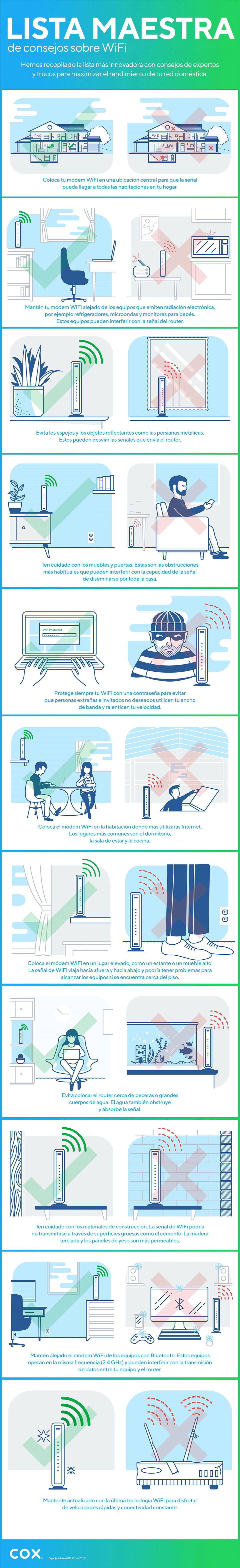 Lista maestra de consejos para mejorar el WiFi